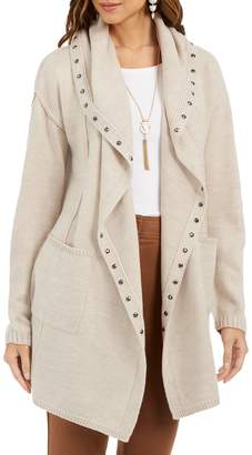 Style&Co. Style & Co. Petite Hooded Studded Cardigan