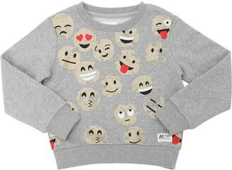 Glittered Smiles Cotton Sweatshirt