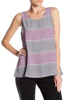 Foxcroft Dotted Stripe Crepe Tank