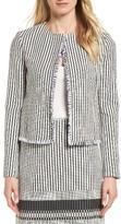 BOSS Women's Komina Stripe Boucle Suit Jacket