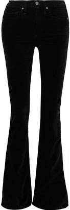Veronica Beard Beverly Cotton-blend Velvet Flared Pants