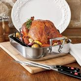 """All-Clad Stainless Steel Roasting Pan with Rack, 11"""" x 13"""""""
