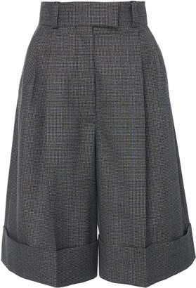 Miu Miu Women's Cuffed Knee-Length Shorts - Grey - Moda Operandi