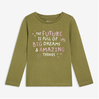 Joe Fresh Toddler Girls' Graphic Tee, Olive (Size 5)