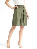 Banana Republic Avery-Fit Tie-Waist Linen-Blend Bermuda Short