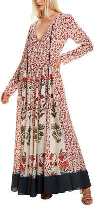 HEMANT AND NANDITA Folklore Silk Maxi Dress