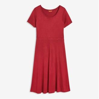 Joe Fresh Women+ Fit-and-Flare Dress, Maroon (Size 1X)
