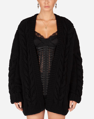Dolce & Gabbana Long-Sleeved Wool And Cashmere Cardigan