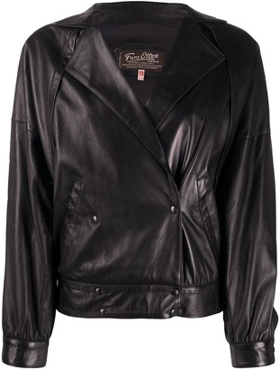 A.N.G.E.L.O. Vintage Cult 1980s Double-Breasted Leather Jacket