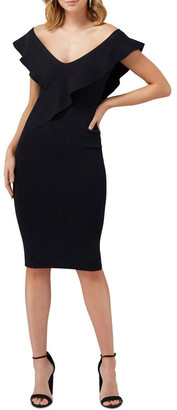 Forever New Sharna Frill Bardot Knit Dress
