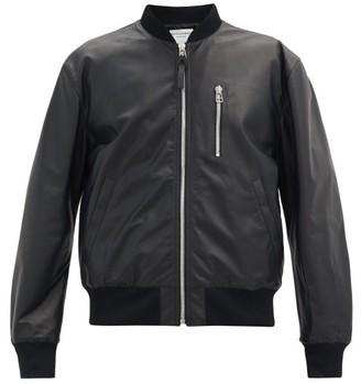 Bottega Veneta Zipped Matte-leather Bomber Jacket - Black