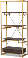 Design Studios Cerelia Steel And Finished Wood 3-Shelf Accent Bookcase