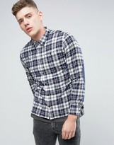 Pepe Jeans Pepe Yank Regular Fit Shirt Bay Check Elbow Patches