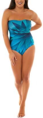 Seaspray Oneta Gathered Diamnate Bandeau Swimsuit