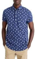 J.Crew J. CREW Short Sleeve Paisley Linen & Cotton Popover Shirt