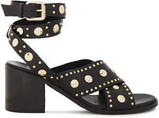 Maje Studded Leather Sandals