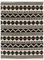 Surya Frontier Area Rug - Black/Ivory, 8' x 11'