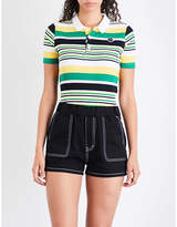 Chocoolate Striped knitted polo shirt