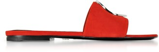Proenza Schouler Tulip Red Suede Slide Sandals
