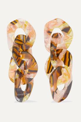 Valet Studio Adora Marbled Resin Earrings - Brown