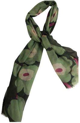 Marimekko Green Wool Scarves