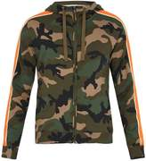Valentino Camouflage-print cotton-blend hooded sweatshirt