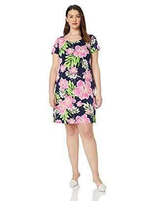 MSK Women's Plus Size Short Sleeves t-Shirt Dress