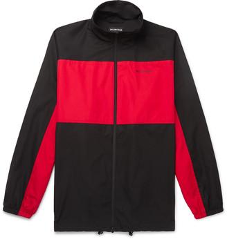 Balenciaga Oversized Colour-Block Cotton-Shell Jacket