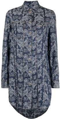 Versace Jeans Couture Barocco-print buttoned-up shirt