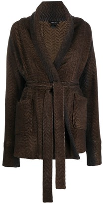 Avant Toi Herringbone Tie Waist Jacket