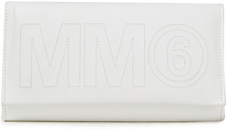 MM6 MAISON MARGIELA Embroidered Faux Leather Wallet