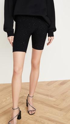 Area Micro Paillette Wool/Silk Bike Shorts