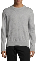 Brooks Brothers Cotton Harlequin Crewneck Sweater