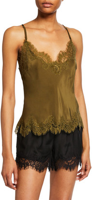 Gold Hawk Lucy Lace-Trim Cropped Camisole