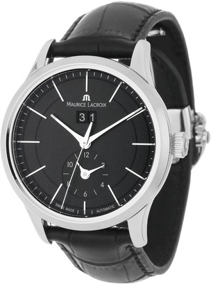 Maurice Lacroix Men's LC6088-SS001330 Les Classiques Quartz Black GMT Dial Watch