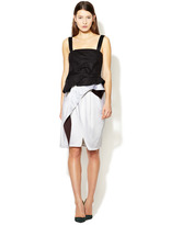 Narciso Rodriguez Asymmetrical Belted Dress