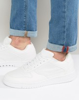 Pull&bear Faux Leather Trainers In White