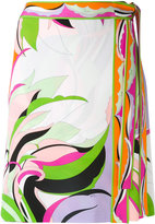 Emilio Pucci colour-block printed skirt - women - Spandex/Elastane/Viscose - 40