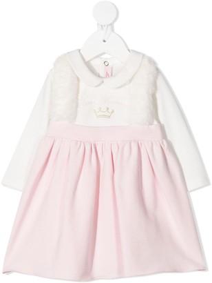 Miss Blumarine Peter Pan Two-Tone Dress