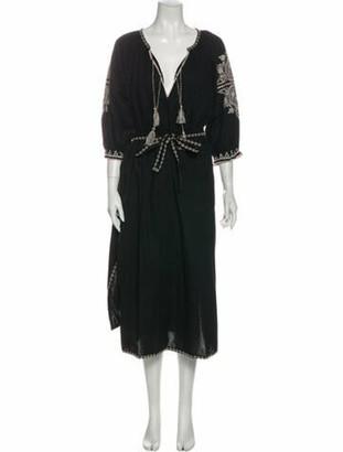 Ulla Johnson V-Neck Long Dress Black