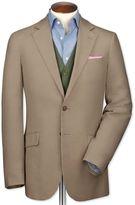 Slim Fit Beige Linen Linen Jacket Size 44