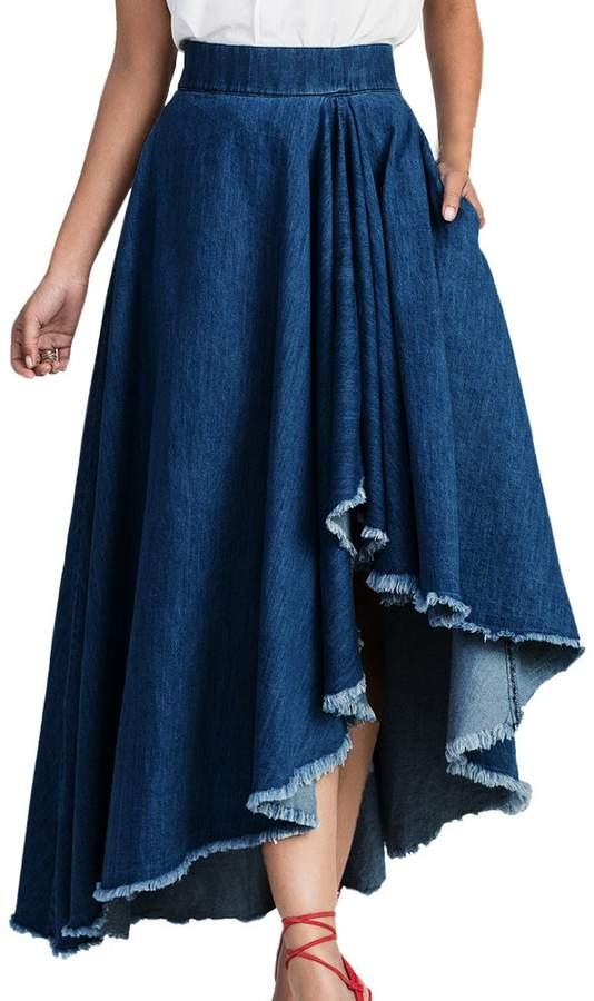 faae5e5d41 Elastic Waist Denim Skirt - ShopStyle Canada