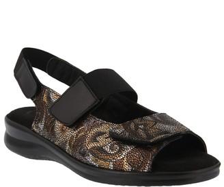 Spring Step Flexus by Leather Slingback Sandals- Shavonda