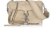 Rebecca Minkoff Mini M.A.C. Sandstone Nubuck Crossbody Bag w/Guitar Strap