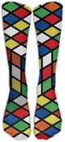 Edgar Bell Men's Women's Knee High Socks Magic Cube Over-The-Calf Socks