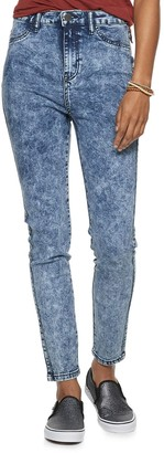 Almost Famous Juniors' Super High Rise Skinny Neon Jeans