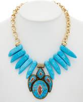 Devon Leigh 24K Plated Gemstone Necklace