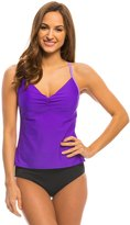 Speedo Women's Solid Color Block Strappy Tankini 8135937