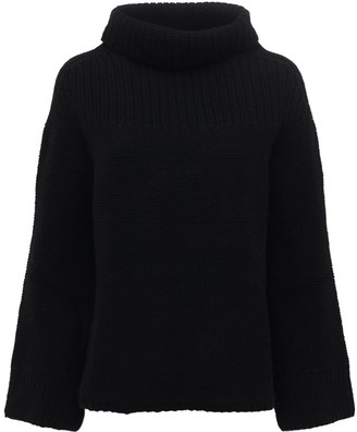 Belstaff Over Wool Knit Turtleneck Sweater