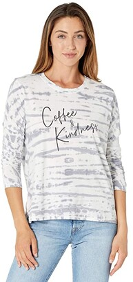 good hYOUman Suzanne Coffee and Kindness T-Shirt (India Ink Alligator) Women's Clothing